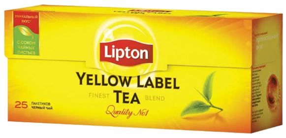 LIPTON YELLOW LABLE BLACK TEA 25 ПАКЕТИКОВ