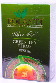 POLANTI PURE CEYLON TEA CLASSIC BLEND GREEN TEA PEKOE 100 гр