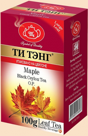 ТИ ТЭНГ MAPLE BLACK CEYLON TEA O.P. LEAF TEA  100 гр
