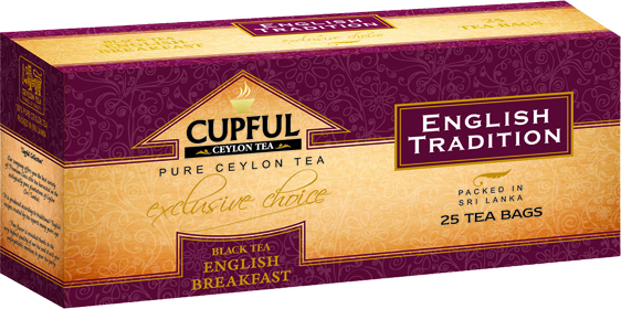 CUPFUL ENGLISH TRADITION BLACK TEA ENGLISH BREAKFAST 25 ПАКЕТИКОВ