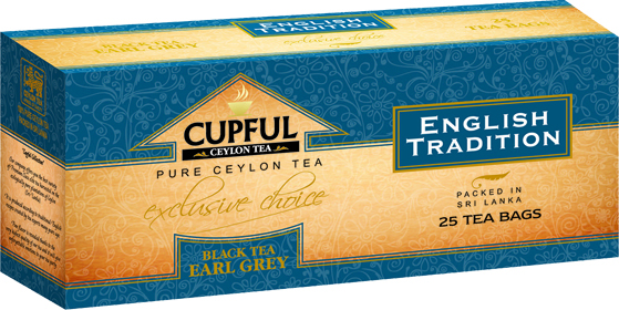 CUPFUL ENGLISH TRADITION BLACK TEA EARL GREY 25 ПАКЕТИКОВ