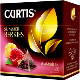 CURTIS  SUMMER BERRIES BLACK TEA 20 пирамидок