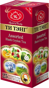 ТИ ТЭНГ ASSORTED BLACK CEYLON TEA 25 ПАКЕТИКОВ