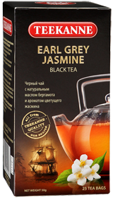 TEEKANNE EARL GREY JASMINE BLACK TEA 25 ПАКЕТИКОВ