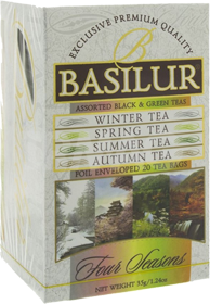 BASILUR ASSORTED BLACK & GREEN TEAS  20 ПАКЕТИКОВ