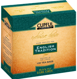 CUPFUL ENGLISH TRADITION BLACK TEA EARL GREY 100 ПАКЕТИКОВ