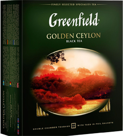 GREENFIELD EARL GOLDEN CEYLON 100 пакетиков