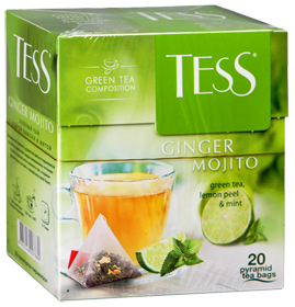 TESS GINGER MOJITO GREEN TEA, LEMON TEA & MINT 20 пирамидок