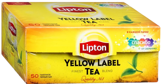 LIPTON YELLOW LABLE BLACK TEA 50 ПАКЕТИКОВ