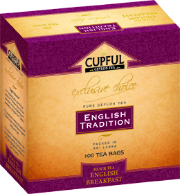 CUPFUL ENGLISH TRADITION BLACK TEA ENGLISH BREAKFAST 100 ПАКЕТИКОВ