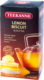 TEEKANNE LEMON BISCUIT BLACK TEA 25 ПАКЕТИКОВ