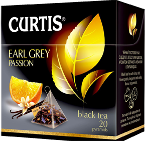 CURTIS  EARL GREY PASSION BLACK TEA 20 пирамидок