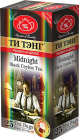 ТИ ТЭНГ MIDNIGHT BLACK CEYLON TEA 20 ПАКЕТИКОВ