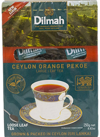 DILMAH CEYLON ORANGE PEKOE LARGE LEAF TEA  250 гр