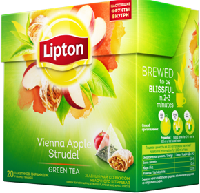 LIPTON VIENNA APPLE STRUDEL GREEN TEA 20 пирамидок