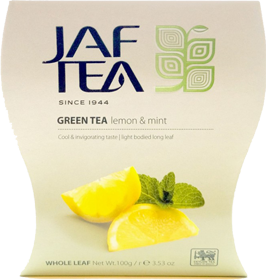 JAF TEA GREEN TEA LEMON NATURAL LEMON PEEL 100 гр