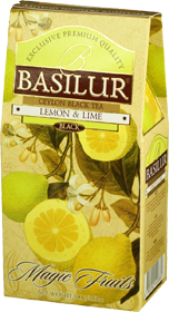 BASILUR CEYLON BLACK TEA LEMON & LIME  100 гр