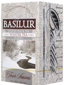 BASILUR CEYLON BLACK TEA WINTER TEA 25 ПАКЕТИКОВ