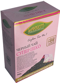 LAKRUTI PURE CEYLON TEA SUPER PEKOE ЧЕРНЫЙ ЧАЙ 500 гр