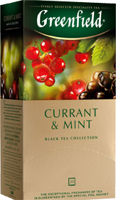 GREENFIELD CURRANT & MINT 25 пакетиков