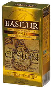 BASILUR 100% PURE CEYLON BLACK TEA GOLD  25 ПАКЕТИКОВ