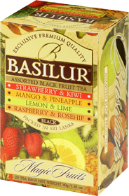 BASILUR ASSORTED BLACK FRUIT TEAS  20 ПАКЕТИКОВ