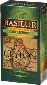 BASILUR 100% PURE CEYLON GREEN TEA  25 ПАКЕТИКОВ