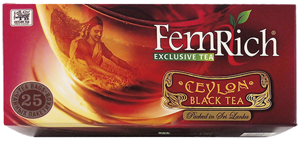 FEMRICH EXCLUSIVE CEYLON BLACK 25 ПАКЕТИКОВ