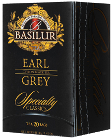 BASILUR EARL CEYLON BLACK TEA GREY 20 ПАКЕТИКОВ