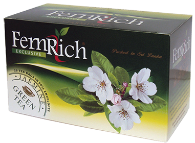 FEMRICH EXCLUSIVE PURE CEYLON TEA GREEN TEA JASMINE 20 ПАКЕТИКОВ