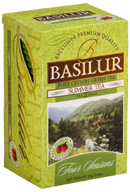 BASILUR CEYLON GREEN TEA SUMMER TEA 20 ПАКЕТИКОВ