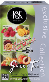JAF TEA SENSATIONAL FRUIT MELANGE GREEN TEA TANTALIZINGLY DIFFERENT 20 ПАКЕТИКОВ