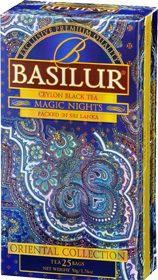 BASILUR CEYLON BLACK TEA MAGIC NIGHTS  25 ПАКЕТИКОВ