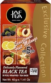 JAF TEA SENSATIONAL FRUIT MELANGE DELICATELY FLAVOURED BLACK TEA 20 ПАКЕТИКОВ