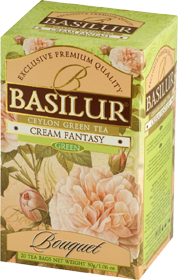 BASILUR CEYLON GREEN TEA GREY CREAM FANTASY 20 ПАКЕТИКОВ